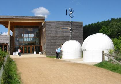 The domes located outside the Forestry Commission Visitor Centre in Dalby Forest