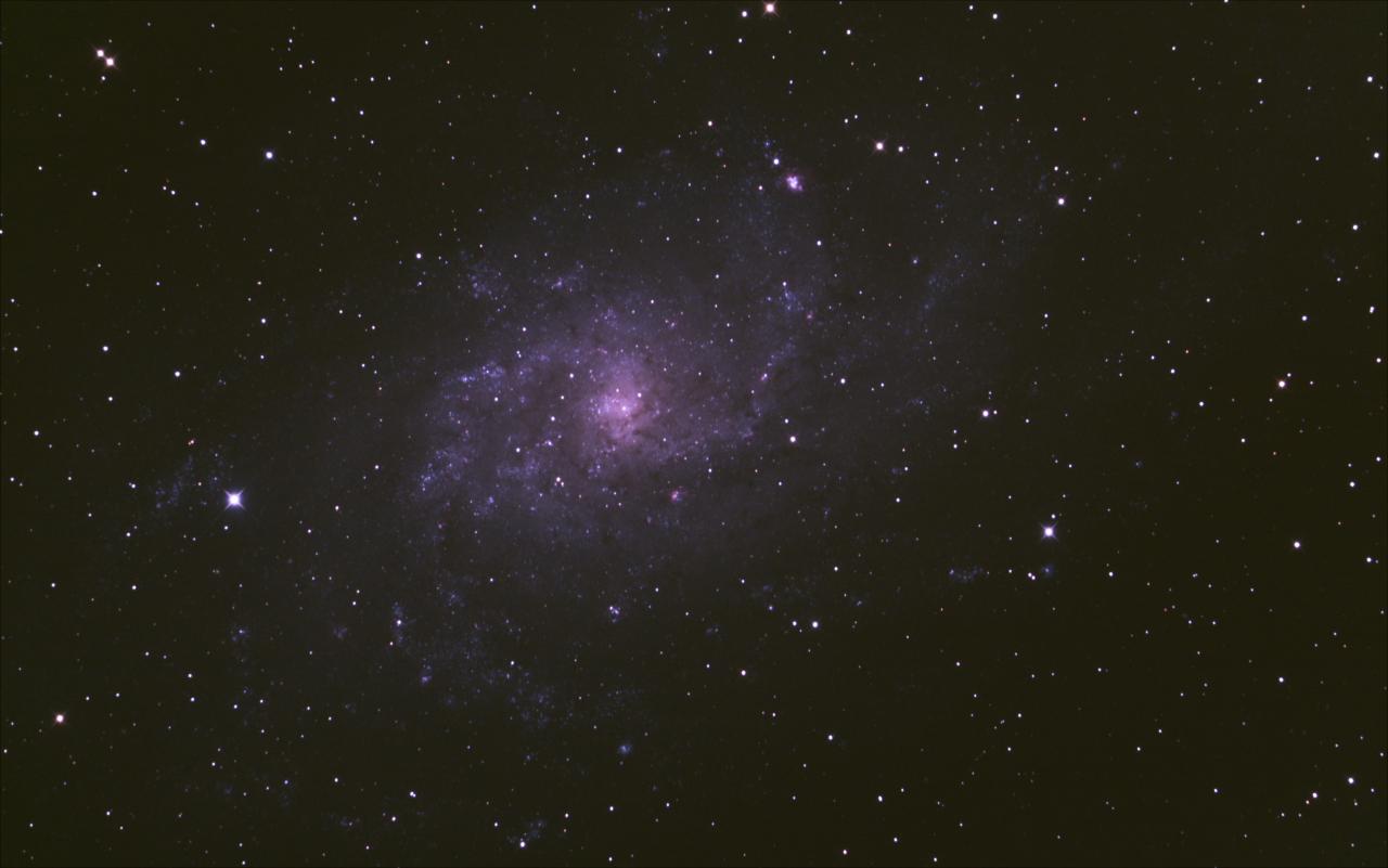 The Triangulum Galaxy (Messier 33) imaged during Starfest 2012 by Juergen Schmoll