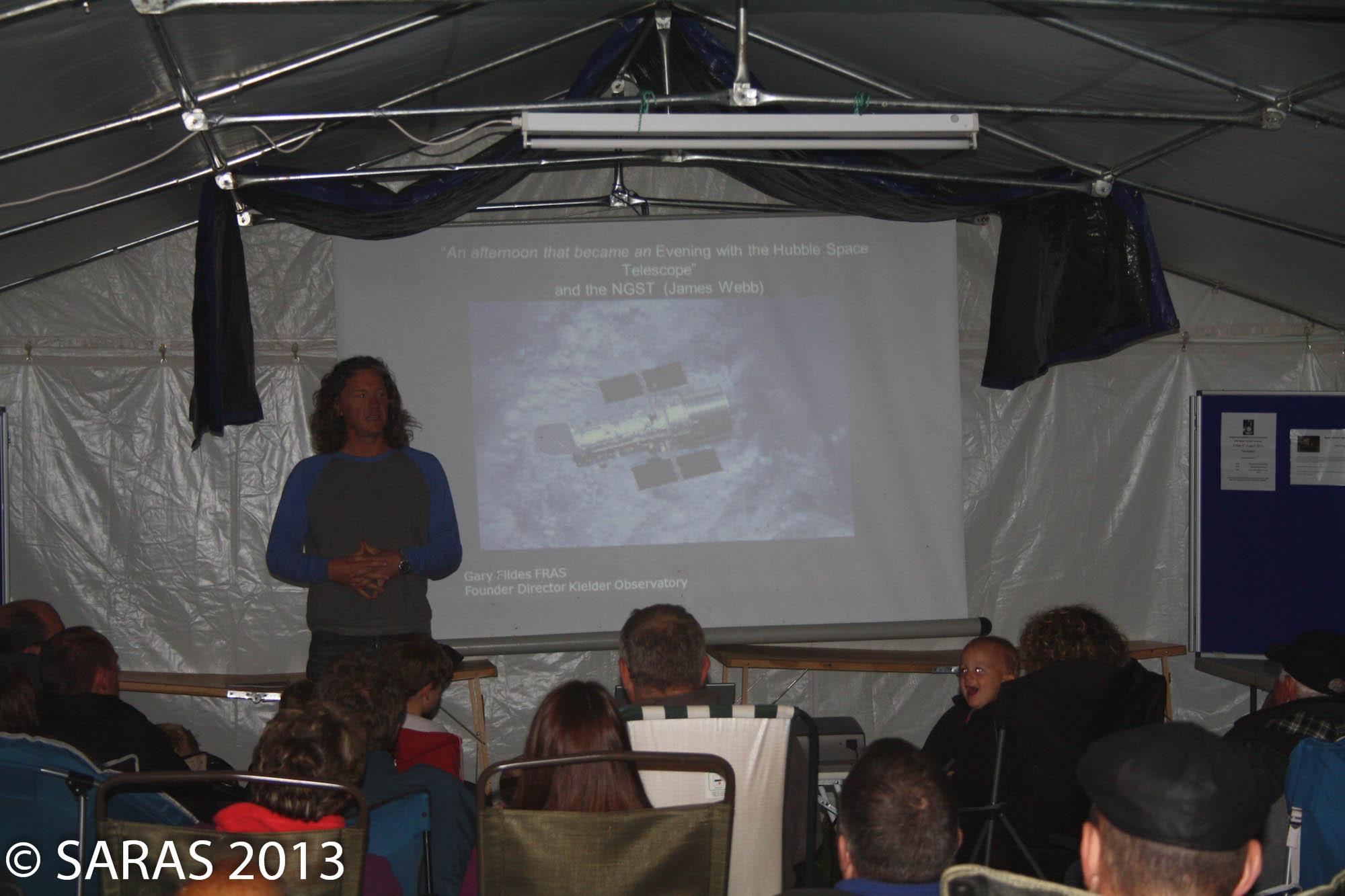 Gary Fildes of Kielder Observatory speaking at Starfest 2013
