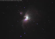 Messier 42 - The Orion Nebula - 9th Jan 2014 - Image credit: Mark Tissington