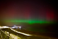Aurora over Scarborough's North Bay - 27th February 2014. Image credit: Steve Bowden