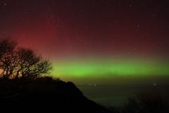 Aurora at Ravenscar - 27th February 2014. Image credit: Steve Bowden