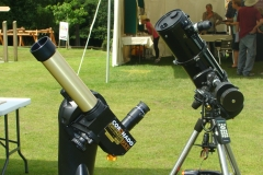 Special Solar telescopes for safely observing the Sun